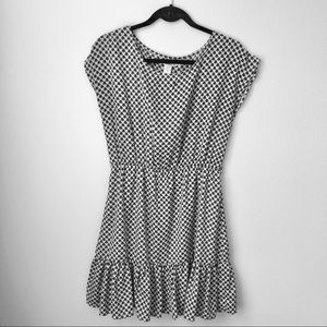 American Rag cream and navy heart dress